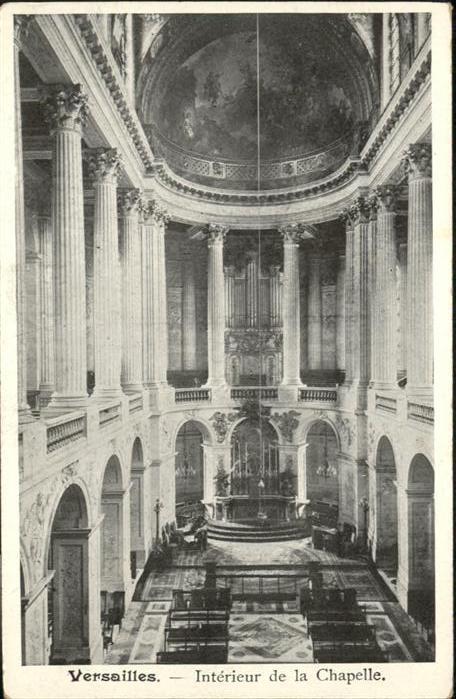 Versailles Yvelines Interieur de la Chapelle Orgel / Versailles /Arrond. de Versailles