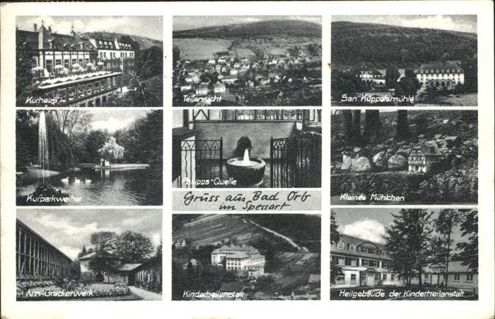 Bad Orb Kurhaus Gradierwerk Kinderheilanstalt / Bad Orb /Main-Kinzig-Kreis LKR