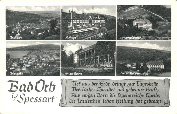 Bad Orb Kurhaus Kinderheilanstalt Saline / Bad Orb /Main-Kinzig-Kreis LKR