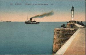 Dieppe Seine-Maritime Dieppe Depart Angleterre Dampfer x / Dieppe /Arrond. de Dieppe