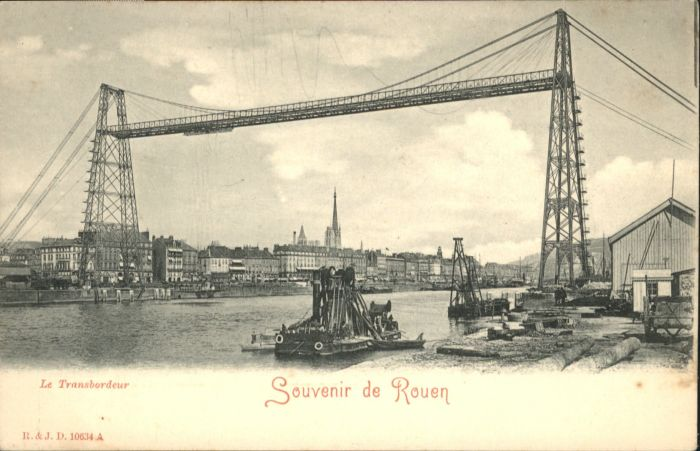 Rouen Rouen Schiff Bruecke * / Rouen /Arrond. de Rouen