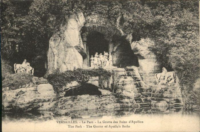 Versailles Yvelines Versailles Le Parc La Grotte des Bains d'Apollon x / Versailles /Arrond. de Versailles