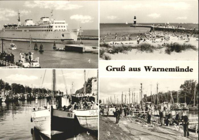 Warnemuende Ostseebad Warnemuende Faehrschiff Warnemuende Boote Hafen x / Rostock /Rostock Stadtkreis