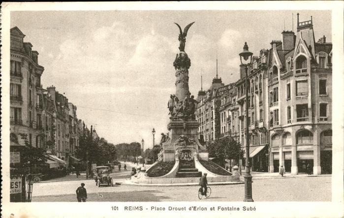 Reims Place Drouet Erlon Fontaine Sube Kat. Reims