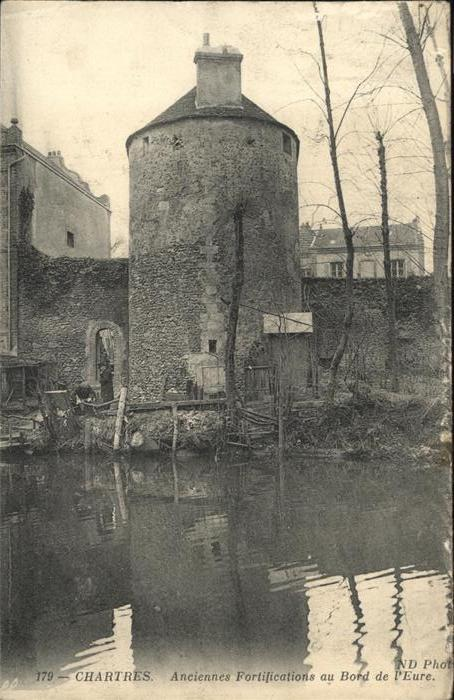 Chartres Anciennes Fortifications au Bord de Eure Kat. Chartres