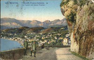 hw14832 Menton Alpes Maritimes Frontiere Franco-Italienne Kategorie. Menton Alte Ansichtskarten