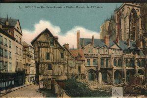 Rouen Rue Saint-Romain Vieille Maison Kat. Rouen