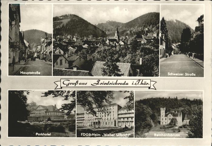 pw05098 Friedrichroda Parkhotel Reinhardsbrunn Schweizer Strasse Kategorie. Friedrichroda Alte Ansichtskarten