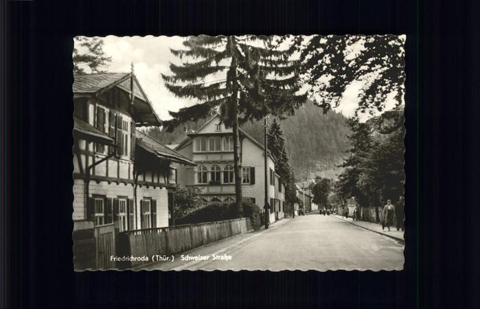 pw05280 Friedrichroda Schweizer Strasse Kategorie. Friedrichroda Alte Ansichtskarten