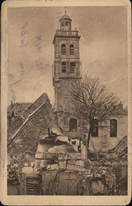 St Quentin Boersenturm Zerstoerung *