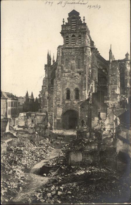 St Quentin Kathedrale Zerstoerung *