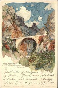 Menton Frontiere Franco-Italienne Kuenstler M. Wielandt x