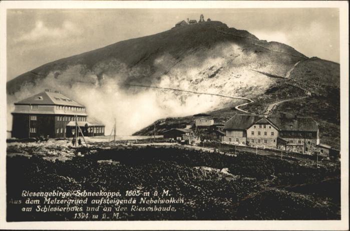 Schneekoppe Riesengebirge Melzergrund Schlesierhaus Riesenbaude