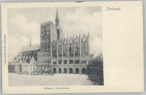 Stralsund Mecklenburg Vorpommern Stralsund Rathaus Nicolaikirche * / Stralsund /Stralsund Stadtkreis