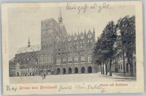 Stralsund Mecklenburg Vorpommern Stralsund Markt Rathaus x / Stralsund /Stralsund Stadtkreis