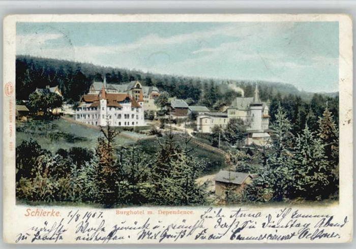 Schierke Harz Schierke Burg Hotel  x / Schierke Brocken /Harz LKR