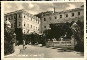 Karlsbad Eger Boehmen Richmond Parkhotel / Karlovy Vary /