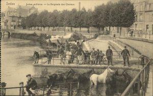 Sedan Ardennes Scene militaire Baignade Chevaux / Sedan /Arrond. de Sedan