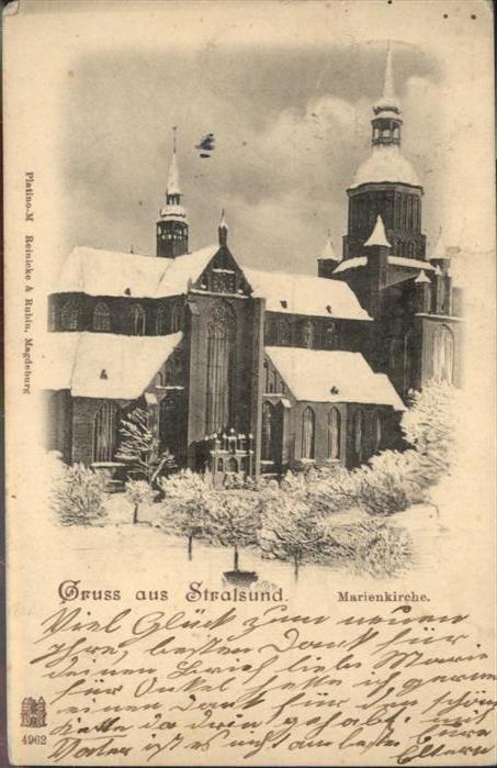 Stralsund Mecklenburg Vorpommern Marienkirche / Stralsund /Stralsund Stadtkreis