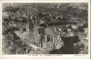 Chartres Fliegeraufnahme Cathedrale *