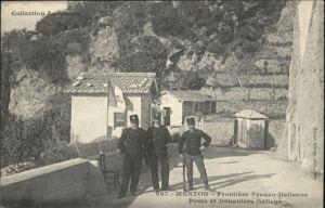 Menton Frontiere Franco Italienne Poste Douaniers Italiens x