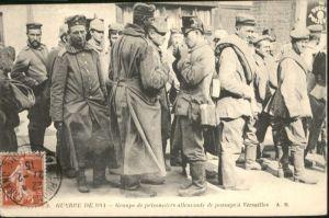 Versailles Groupe de prisonniers allemands de passage x