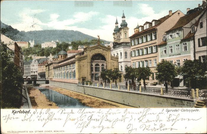 Karlsbad Eger Boehmen Sprudelkolonnade Kat Karlovy Vary