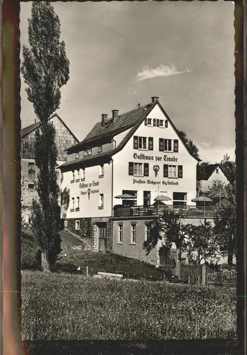 Winterkasten Lindenfels Gasthaus zur Traube (mit Pension u.Metzgerei) Kat. Lindenfels