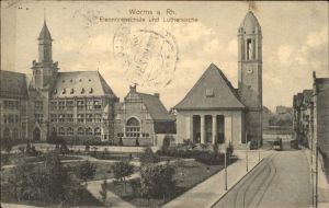Worms Eleonorenschule Lutherkirche Kat. Worms