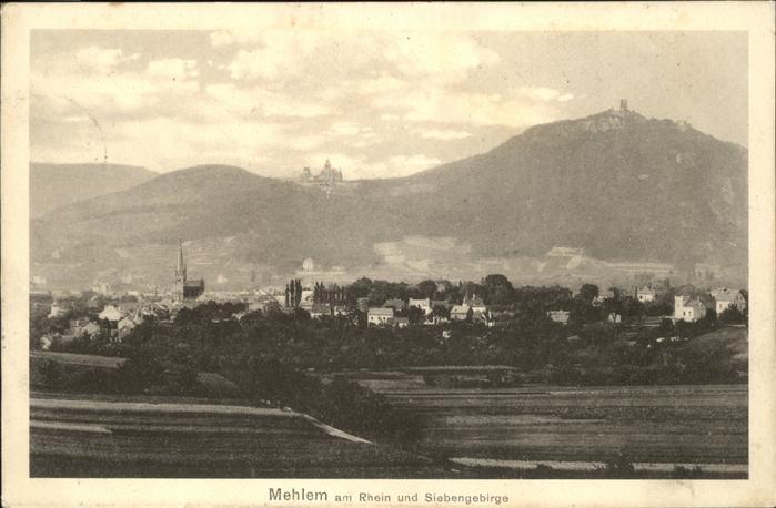 Mehlem Bonn Siebengebirge Kat. Bonn