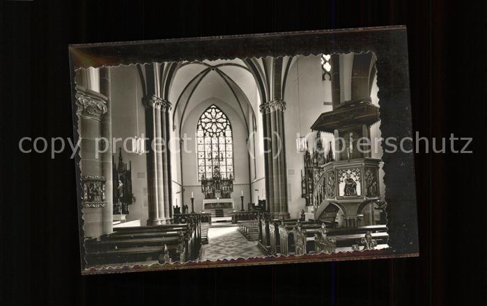 Luegde Pfarrkirche St. Marien Inneres Altar Kanzel Kat. Luegde