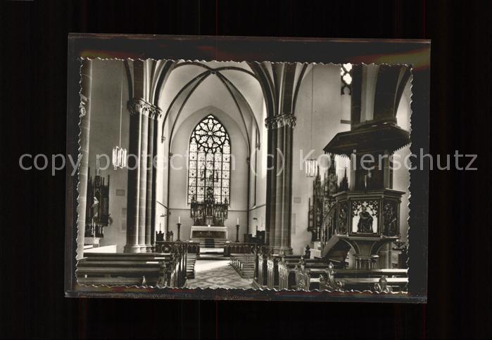 Luegde Katholische Kirche St. Marien Altar Kanzel Kat. Luegde