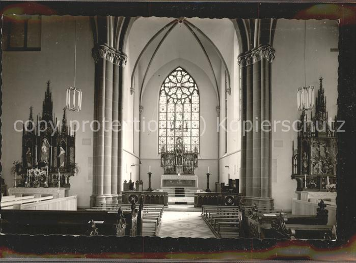 Luegde Pfarrkirche St. Marien Altar Kat. Luegde