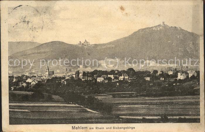 Mehlem Bonn mit Siebengebirge Kat. Bonn