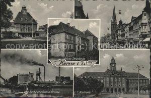 Herne Westfalen Bahnhof Zeche Friedrich des Grossen Rathaus Schloss Struenkede / Herne /Herne Stadtkreis