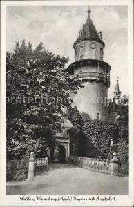 Wiesenburg Mark Turm mit Auffahrt Kat. Wiesenburg Mark