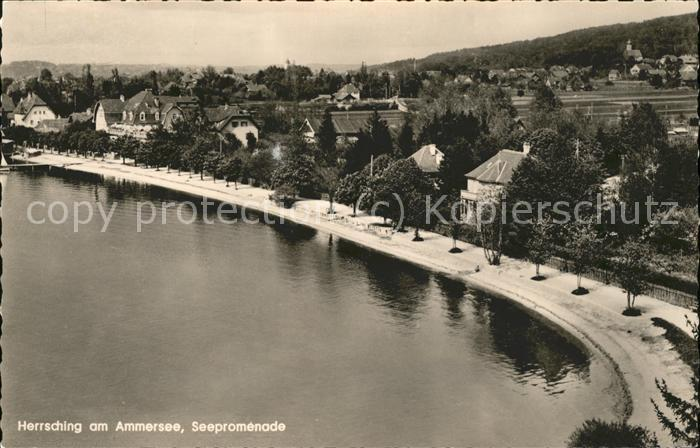 Herrsching Ammersee Seepromenade / Herrsching a.Ammersee /Starnberg LKR