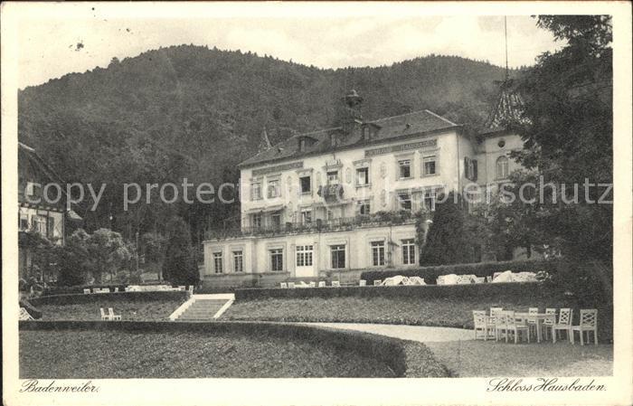 Badenweiler Schloss Hausbaden Kat. Badenweiler