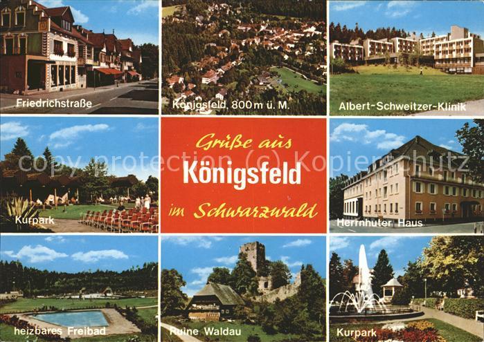 Koenigsfeld Schwarzwald Kurpark Herrnhuter Haus Ruine Waldau Kat