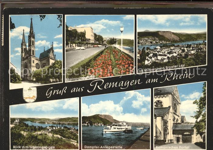 Remagen Romanisches Portal Rheinpromenade Kat. Remagen