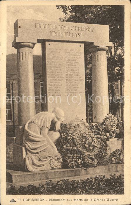 Schirmeck Monument aux Morts de la Grande Guerre Kat. Schirmeck