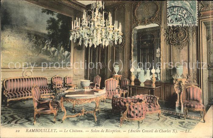 Rambouillet Le Chateau Salon de Reception Kat. Rambouillet
