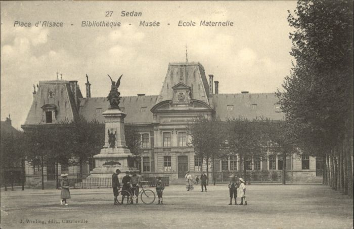 Sedan Place Alsace Bibliotheque Musee Ecole Maternelle *