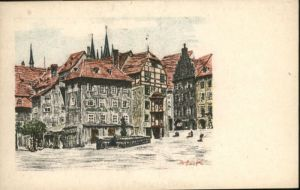 Eger Marktplatz  Kuenstler B  Lark  *