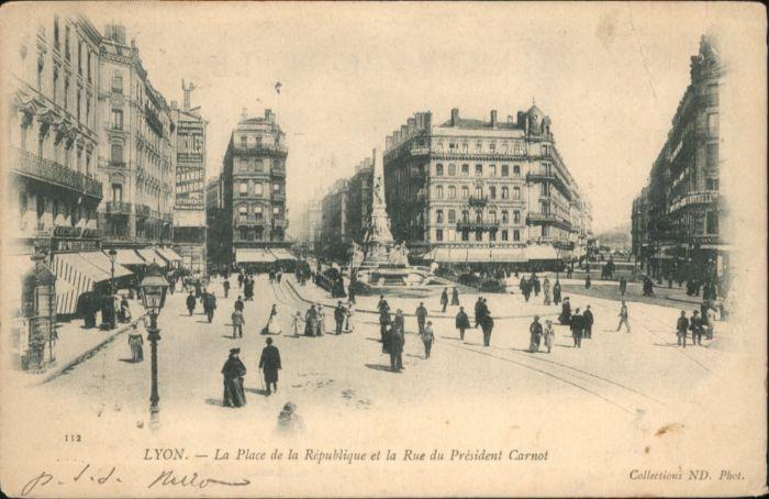 Lyon Place Republique Rue President Carnot x