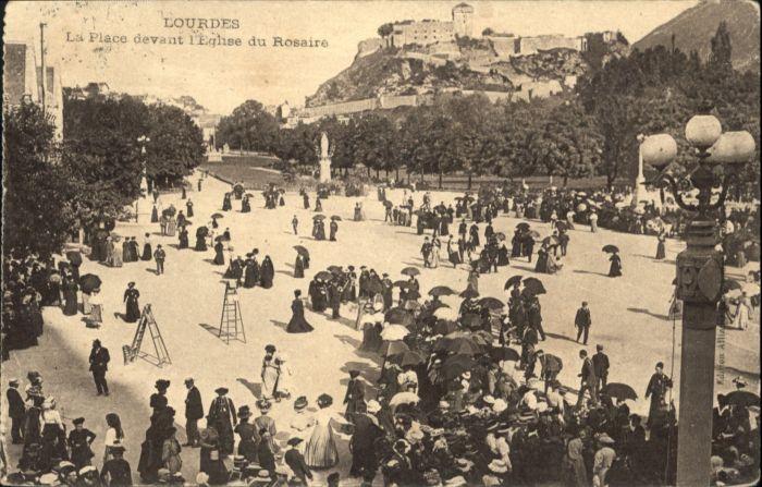 Lourdes Place Devant Eglise Rosaire x