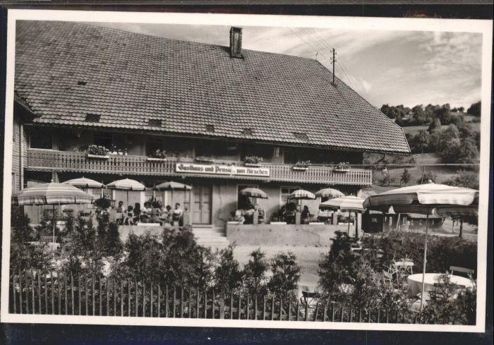 Wieden Schoenau Schwarzwald Gasthof zum Hirschen *