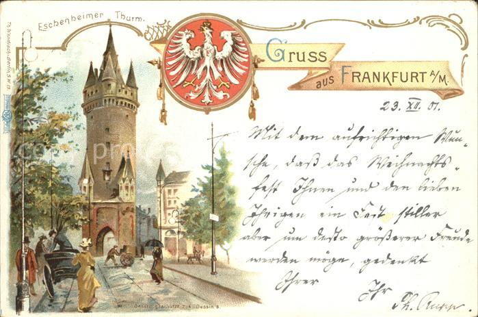Frankfurt Main Eschenheimer Thurm Kat. Frankfurt am Main