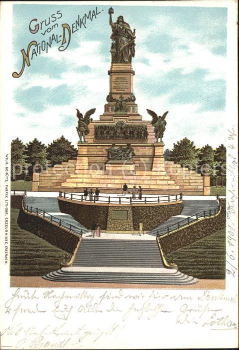 Ruedesheim Rhein Nationaldenkmal auf dem Niederwald Kat. Ruedesheim am Rhein