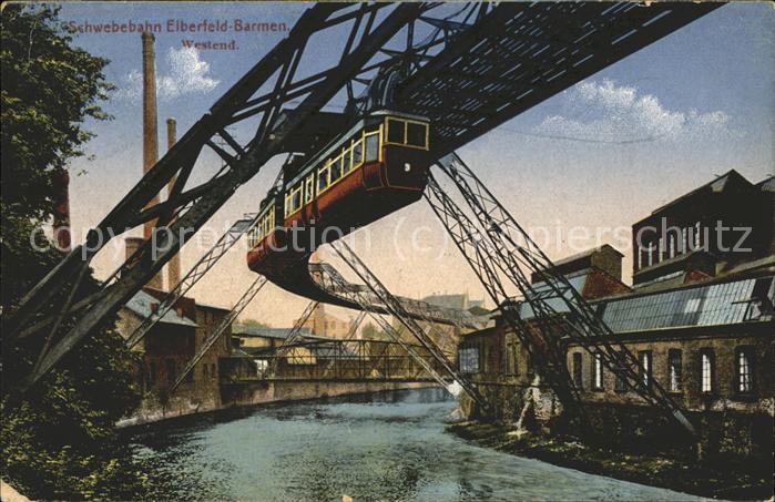 Elberfeld Wuppertal Schwebebahn Elberfeld Barmen / Wuppertal /Wuppertal Stadtkreis